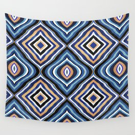 Blue Moroccan Wall Tapestry