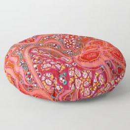 Crimson Tapestry Floor Pillow