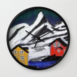 Northern Norway Wall Clock