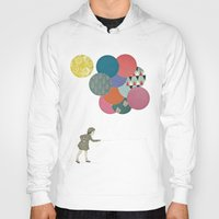 party Hoodies featuring Party Girl by Cassia Beck