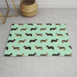 Shetland Sheep Dog pattern custom dog gifts for unique dog breed pet friendly dogs Rug