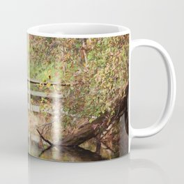 Bridge Over Oak Creek Pond Coffee Mug