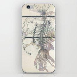rose-Fish-bone dinosaur iPhone Skin
