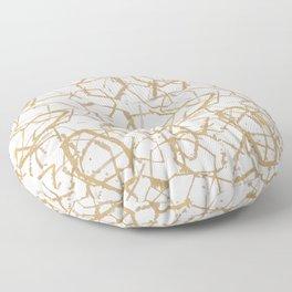 A Faint Geometry - Gold Floor Pillow