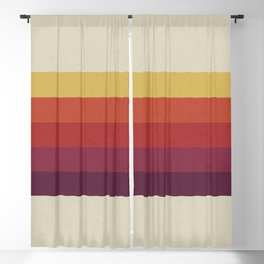 Retro Video Cassette Color Palette Blackout Curtain