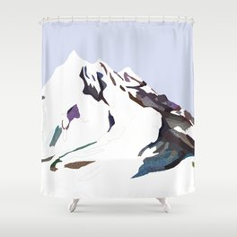 Mountains In The Cold Design Shower Curtain