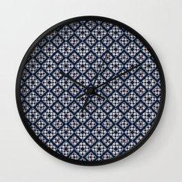 Hot Cocoa Holiday Penguin Quatrefoil Wall Clock