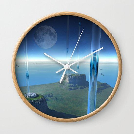 space elevator - babylon transfer station  Wall Clock