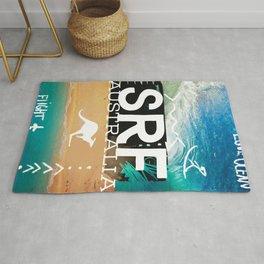 Surfing Surf Australia Rug