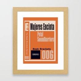 Petal Soundbarriers • mujeres encinta Framed Art Print