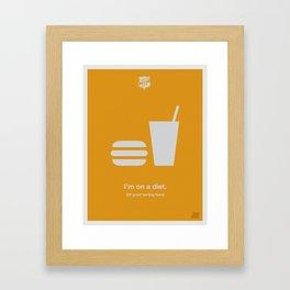 I'm On a Diet Framed Art Print