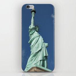 Blue Skies Behind Lady Liberty iPhone Skin