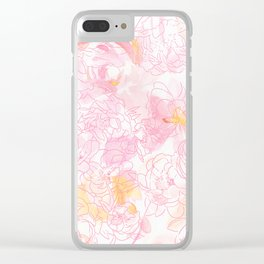 Sping flower Clear iPhone Case
