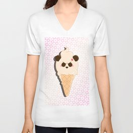 1-Scoop Panda Unisex V-Neck