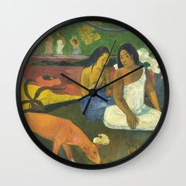 Arearea by Paul Gauguin Wall Clock