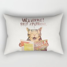 WOLVERINE! FISRT A'PURR'ANCE! Rectangular Pillow