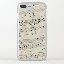 I Love Piano Music Clear iPhone Case