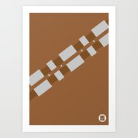 chewbacca Art Prints featuring Chewbacca by VineDesign