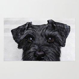 Black Schnauzer original painting print Rug