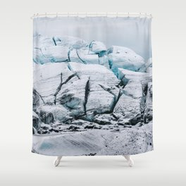 Glacial World of Iceland - Landscape Photography Shower Curtain