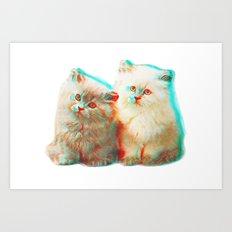 Meow Buddies Art Print