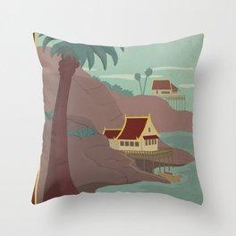Ember Island Travel Poster Throw Pillow