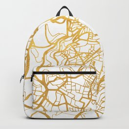 JERUSALEM ISRAEL PALESTINE CITY STREET MAP ART Backpack