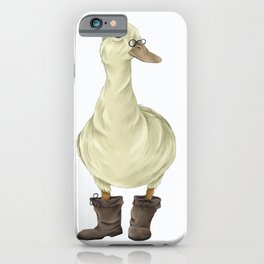 duck in boots  iPhone Case