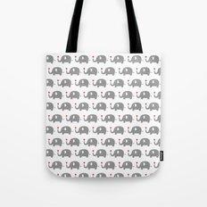 Elephants in love (white) Tote Bag