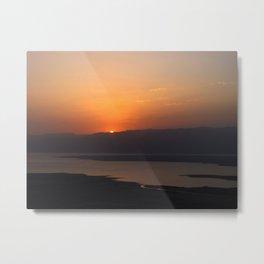 Masada Sunrise Metal Print