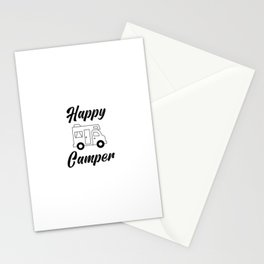 Happy Camper, Camping, Camper Gift, Glamping Stationery Cards