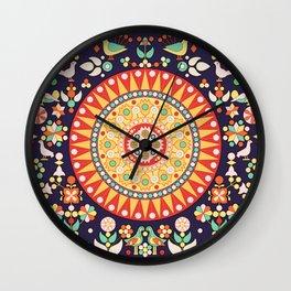 Wayuu Tapestry Inspiration II - Digital Art Wall Clock