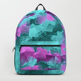 little sqares and rectangles pattern -4- Backpack