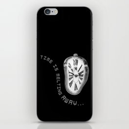 Salvador Dali Inspired Melting Clock. Time is melting away. iPhone Skin