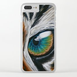 Inaction - Tiger Clear iPhone Case