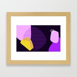 yellow Abstract pattern Framed Art Print