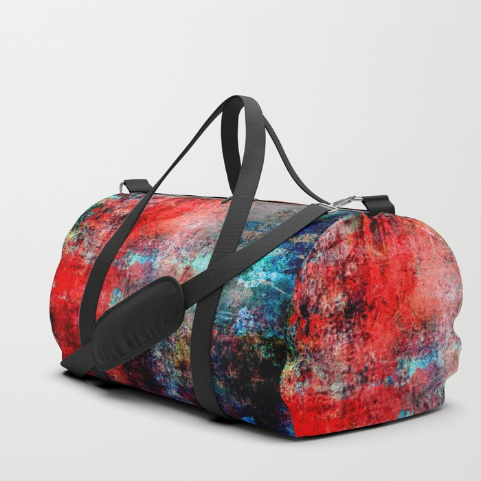 Modern Contemporary Red Abstract IntoDarkness Design Duffle Bag