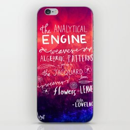 Ada Lovelace - The Way the Numbers Weave iPhone Skin