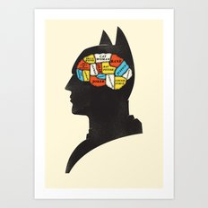 Bat Phrenology Art Print