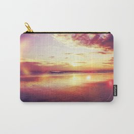 Tropical sunset on a calm beach Carry-All Pouch