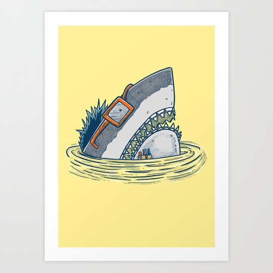 The Nerd Shark Art Print