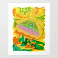 The Walrus who loved mushrooms Art Print