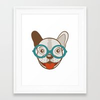 frenchie Framed Art Prints featuring Frenchie by olillia