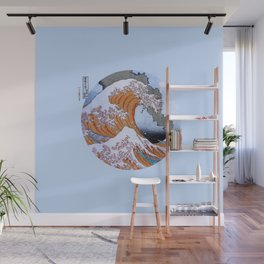 Great Wave off Kanagawa Mt Fuji Eruption Wall Mural