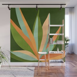 Colorful Agave / Painted Cactus Illustration Wall Mural