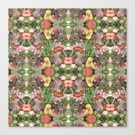 Bunny Cockatoo Kaleidoscope Canvas Print