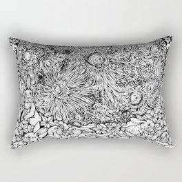 Dream On, Cuddling Moon Bunnies by Kent Chua Rectangular Pillow