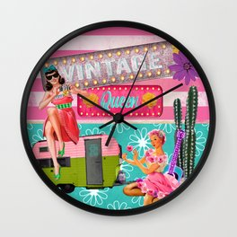 Glamper Queens Wall Clock
