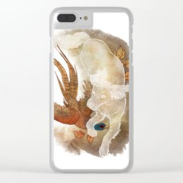 Ghost Dog- Spaniel hunting Pheasant Clear iPhone Case