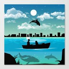 Whaleing Canvas Print